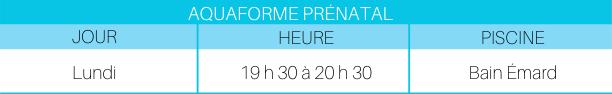 Aquaforme prénatal P-2020
